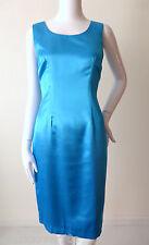 CHARLOTT  Blue Sleeveless Sheath Dress Made In Italy Size Small rrp $559.00