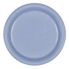 20pk Pastel Blue Plastic Plate 17.7cm Birthday Wedding Party Tableware