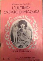 L'ultimo sabato di maggio - Edgarda De gennaro - Mondadori - 1964 - M
