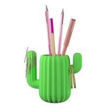 Mustard Green Cactus Pen Holder Magnetic Desktop Organizer Desk Office Pen Pot