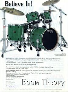 2000 Print Ad of Boom Theory Spacemuffins Drum Kit Bop Deluxe in Kermit Green