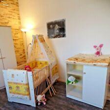 Chambre de Bébé Complet Commode Lit Lot 5 Couleurs 70 x 140 Convertible Blanc