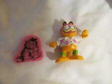 Vintage Garfield eraser and PVC figure
