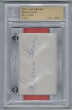BECKETT 2011 LEAF INK CUTS PHILLY'S FINEST FERRIS FAIN AUTO SIGNATURE #'D 1/1