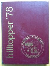 1978 OAK HILL ACADEMY HIGH SCHOOL YEARBOOK, THE HILLTOPPER, MOUTH OF WILSON, VA