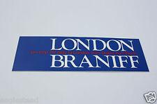 Baggage Label - Braniff - London - 747 Non-stop DFW - Sticker (BL518)