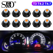 10Pcs T3 T4.2 T4.7 Canbus Led Interior Lights Dashboard warming indicator bulbs