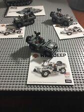 Lego World War 2 Brickmania WWII Jeeps with Instruction Manual