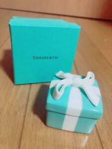 TIFFANY&Co. Couples Classic Blue Bow Jewelry Box Ceramic Gift from Jp