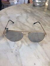 New Steve Madden Retro Future Split Aviator Sunglasses Silver Mirror