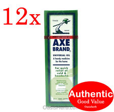 12X Singapore Axe Brand Universal Medicated Oil-56ML for aches & pain (New!)