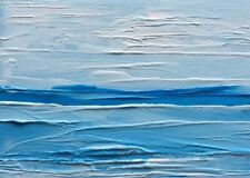 "ICE BLUE SEASCAPE Original Oil ACEO Painting 2.5""x3.5"" Julia Garcia OOAK Art NEW"