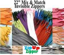 25 INVISIBLE Zippers 22 Inches Mix And Match Colors (25 zippers)