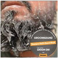 Mens Shampoo Ball & Beard Wash Cleanse Moisturise Nourish Your Facial Hair 50g