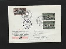 Switzerland 1947 100 Year Trains Railroad Forwarded Horgen Grabs Cover 5q