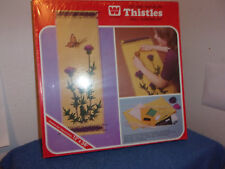 Brand New Whitman Wall Hanging Kit Rare.Thistles.1973.Factor y Sealed