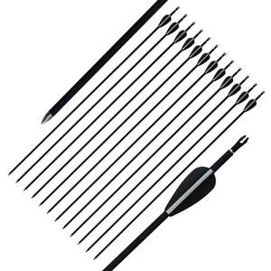 12pcs 32 Pollici Archery Mixed Misto di Caccia frecce Compound ricurvi L'Arco