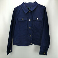 C. Wonder Button Front Denim Jean Jacket Dark Indigo R14 A289689