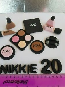 Handmade Make Up 9pcs Set Personalised Edible Cake Toppers