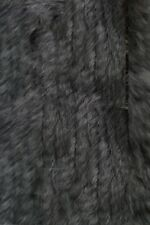 100% Real Knitted Rabbit Fur Hooded Vest Gilet with Raccoon Fur Collar And Tassl