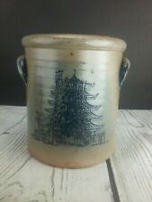 1990 Rowe Pottery Works Pagoda Crock Salt Glaze Cambridge Wisconsin