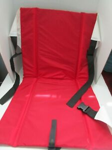 Red Outdoor Stadium Seat Portable Back Support Camping Bleachers Carry Strap