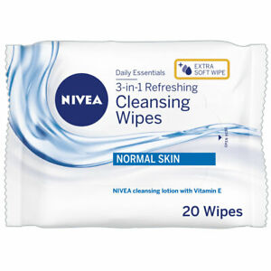 NIVEA Refreshing - Make Up Remover Cleansing Face Wipes (20pcs) with Vitamin E