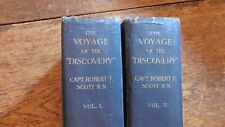 CAPTAIN SCOTT OF THE ANTARCTIC - VOYAGE OF THE DISCOVERY 2 VOLS 1905 FIRST EDN