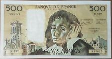 Billet 500 francs PASCAL 2 1 1992 FRANCE N.357