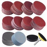 200Pcs Sander Disc Sanding 50mm 2 Inch 80-3000 Grit Paper Abrasive Polish Pad 14