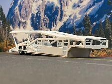 1/64 SPECCAST WHITE 5 CAR MILLER CAR CARRIER TRANSPORT TRAILER