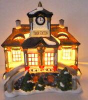 Grandeur Noel Victorian Train Village Station Christmas 1999 Vintage Replacement