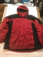 LL Bean Rugged Ridge Parka Jacket Men's Large Red/Black
