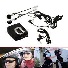 Motorcycle Intercom Communicator Helmet Headsets Two Way RadioConnection #D