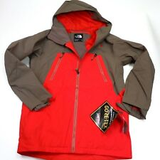 $350 North Face Men's Lostrail GoreTex Jacket Medium Red/Brown NEW