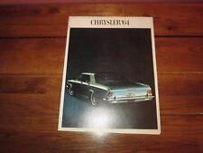 Chrysler '64 1964 Car Sales Brochure