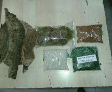 kit 500 gr sughero  muschio sassolini erba set in foto per presepe crib