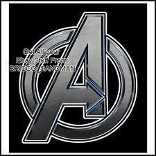 "Fridge Fun Refrigerator Magnet AVENGERS ""LOGO-A"" Superhero Comic Book Iron man"