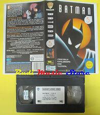 VHS film BATMAN 5 1995 WARNER GLI SCUDI PIV 13695 65 min animazione (F64) no dvd
