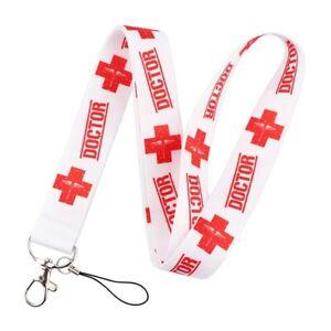 Lanyard ID Card Holder NHS Doctor Medic Medical Alert Red Symbol Medication