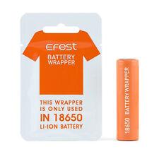 Envolturas de Batería Efest ® 18650 | 10 Pack | envoltorio PVC | vapeo Vaporizador | Reino Unido Stock