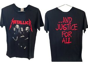 Vintage Metallica 1988 And Justice For All T Shirt Medium