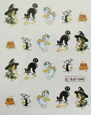 Accessoire ongles : nail art- Stickers Halloween : fantome, chat , sorcière