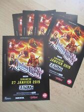 JUDAS PRIEST Memorabilia Lot 5 x promo Tour flyers 2019 RARE !