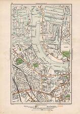 1923 LONDON STREET MAP - DOCKS, DEPTFORD,GREENWICH,NEW CROSS
