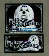 IGT Video Slot Machine MALTESE FORTUNE Belly & Top Glass Set