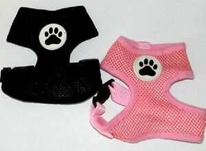 Snoopy's Toy Dog Harnesses - Black or Pink - XXS XS Harness Teacup Small Little
