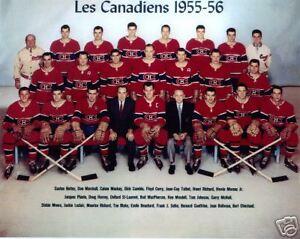 Montreal Canadiens 1955-56 Championship Team Photo