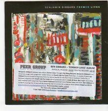 (DN484) Benjamin Gibbard, Former Lives - 2012 DJ CD
