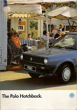 Volkswagen Polo Hatchback 1985-86 UK Market Sales Brochure Base C Formel E GL